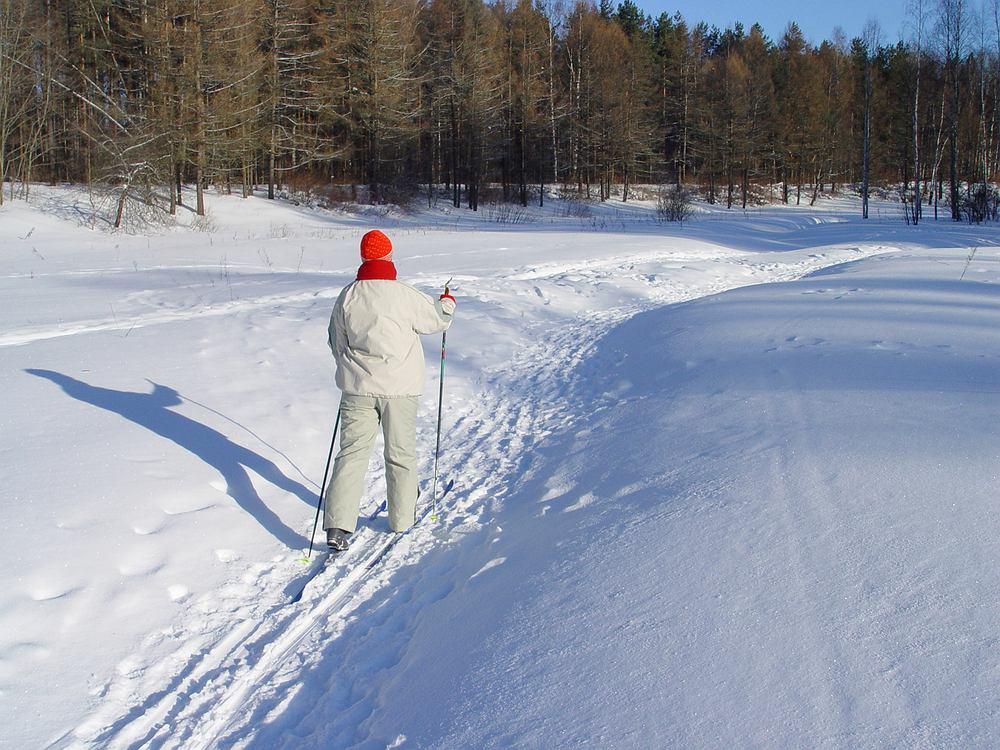 Polska. Suwalszczyzna zimą. Narty inaczej