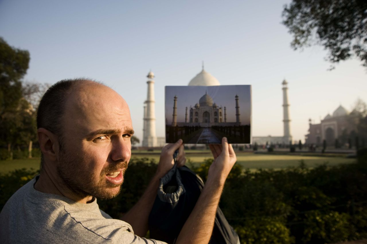 India Images. Karl Pilkington as seen on An Idiot Abroad.