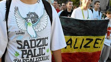 Marsz Wolnych Konopi w Krakowie