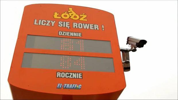 Pierwszy licznik rowerów w Polsce