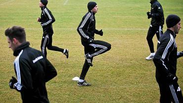 Trenujący piłkarze Lechii Gdańsk