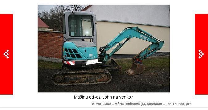 Koparka, którą 'pożyczył' Jaroslav John