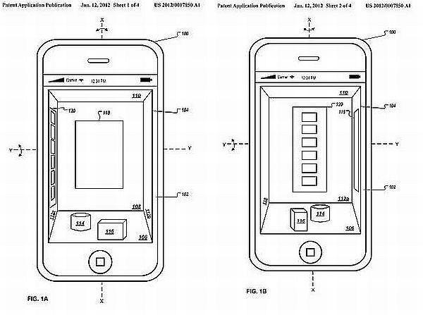 Pomysł trójwymiarowego interfejsu Apple