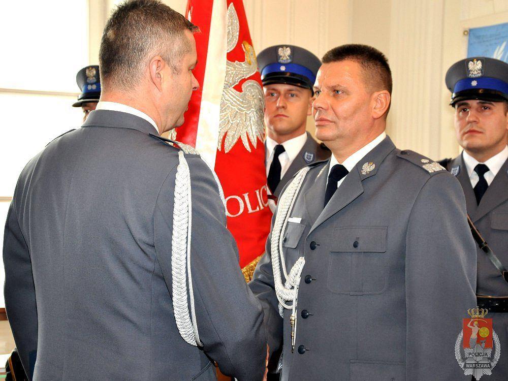 Nowy komendant stołecznej policji Mirosław Schossler podczas zaprzysiężenia