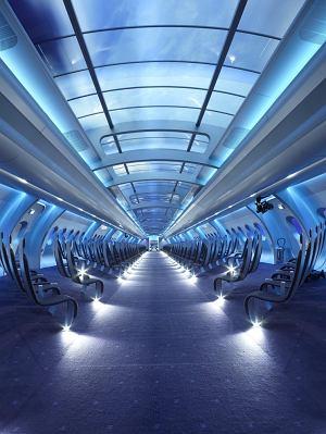 Wizualizacja przestrzeni - pokaz Chanel haute couture wiosna lato 2012