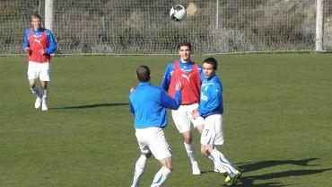 Rozgrzewka przed meczem Lech Poznań, FC Chiasso