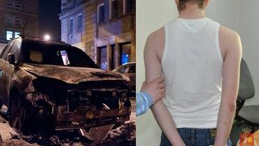 Jacek T.  podpalał samochody zaparkowane w centrum Warszawy. Na zdjęciu po zatrzymaniu w 2012 roku