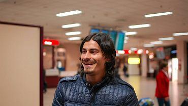 Ismael Blanco na lotnisku Okęcie