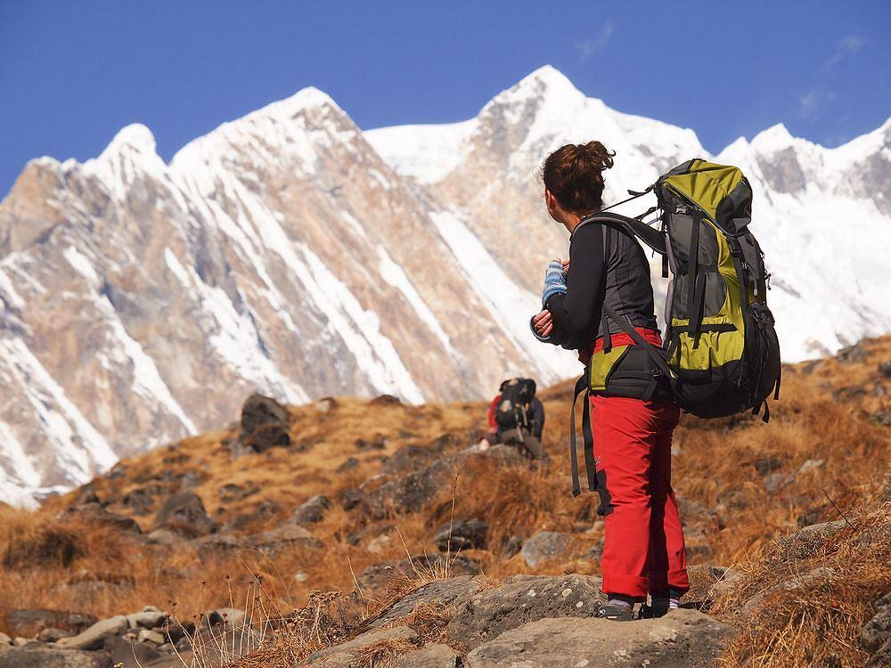 Trasa trekkingu wokół Annapurny. Himalaje, Nepal