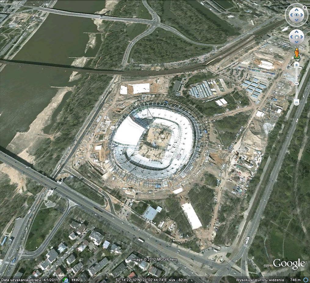 Nowe zdjęcia Warszawy w Google Earth
