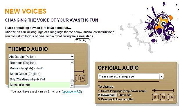Nowe głosy do Avasta