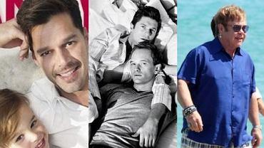 Ricky Martin, Neil Patrick Harris, Elton John.
