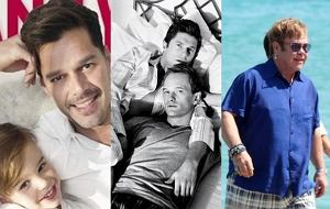 Ricky Martin, Neil Patrick Harris, Elton John
