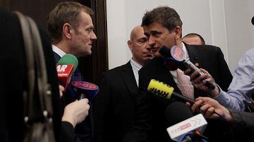 Donald Tusk i Janusz Palikot