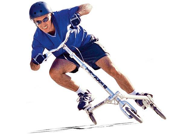 Trikke to taka luźna wariacja na temat roweru, hulajnogi i huśtawki.