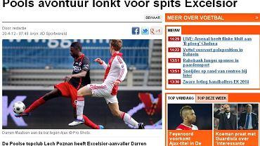 Holenderska prasa informuje o transferze Darrena Maatsena do 'czołowego polskiego klubu'