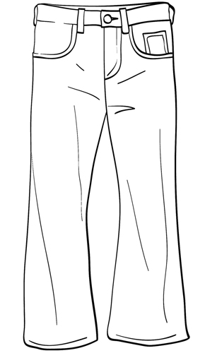 dżinsy, spodnie, BOOTCUT