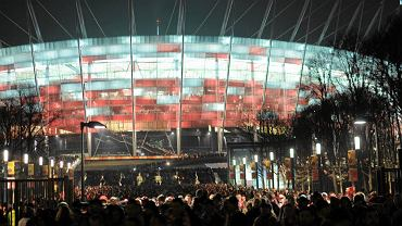 Stadion Narodowy w Warszawie po meczy towarzyskim Polska - Portugalia, 2012 r.