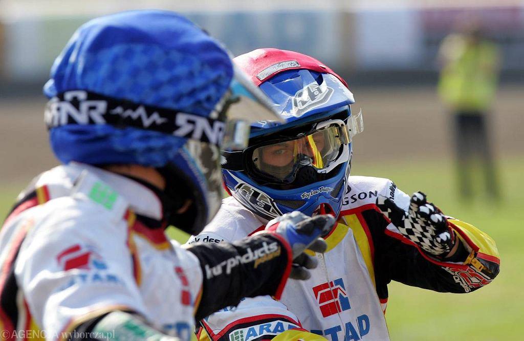Maciej Janowski (z prawej) mistrz świata juniorów