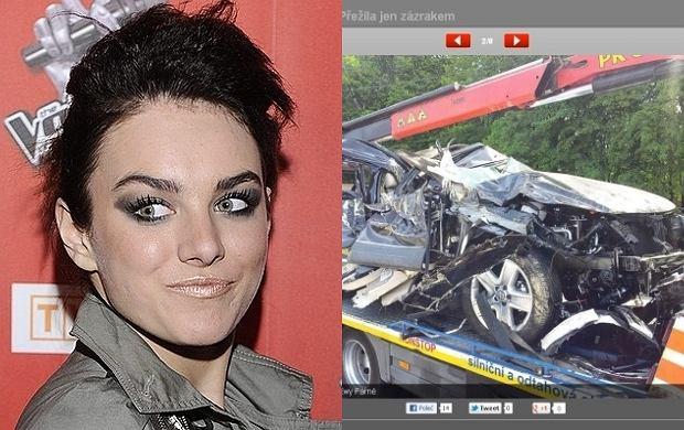Ewa Farna miała wypadek.