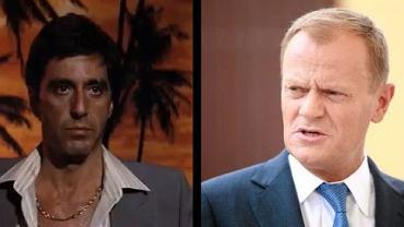 Al Pacino w filmie 'Człowiek z blizną', Donald Tusk