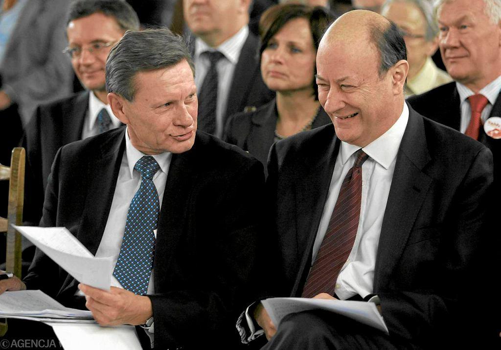 Uśmiechnięci Balcerowicz i Rostowski razem? Zdarzało się tak kiedyś