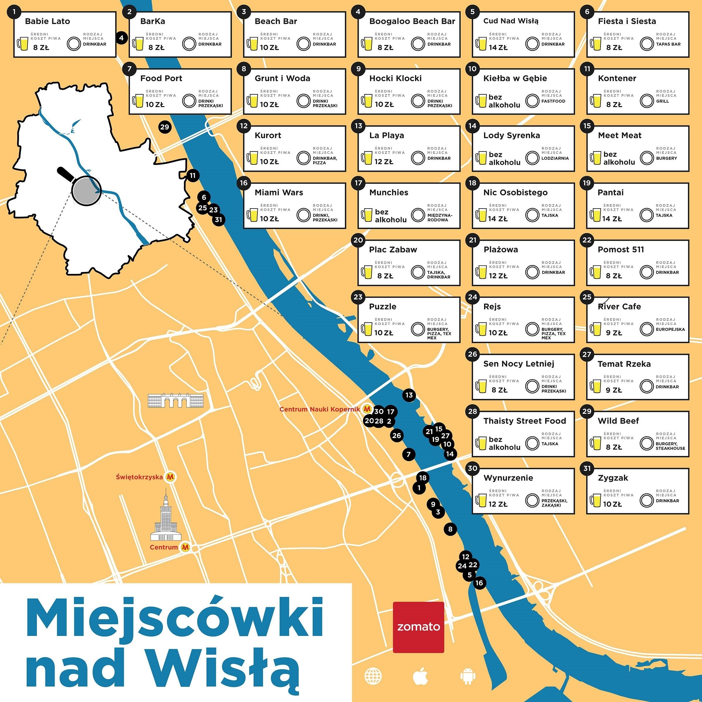 Lista Wszystkich Nadwislanskich Knajp Mapa I Cena Piwa W Kazdej