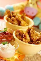 Paluszki z kurczaka z sosami