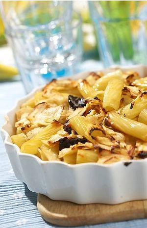 Zapiekanka z makaronu i jabłek
