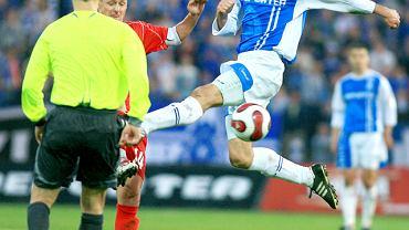 Dla Tomasza Sokołowskiego mecz z Groclinem (kwiecień 2007 r.) był 282. występem w ekstraklasie