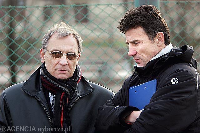 Grzegorz Bakalarczyk i były trener Widzewa Marek Zub