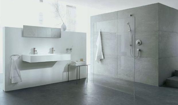 Prysznic za taflą szkła