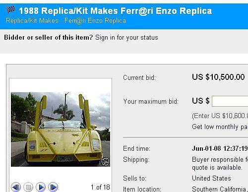 Aukcja Ferr@ri Enzo