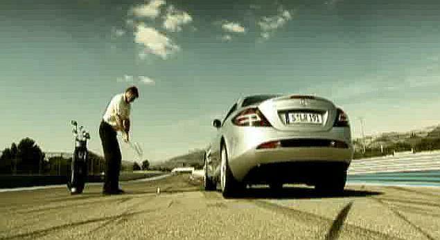 Co będzie szybsze? Piłeczka golfowa czy Mercedes SLR?