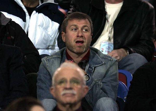 Roman Abramowicz na meczu Chelsea