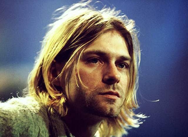 Kurt Cobain podczas nagrywania koncertu Nirvany