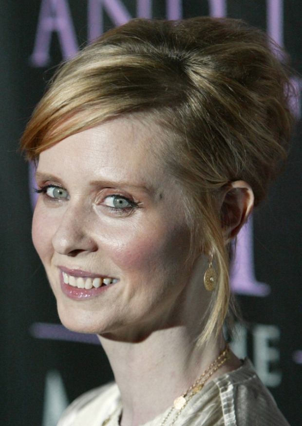 Cynthia Nixon arrives for the DVD launch event for Sex and the City: The Movie - Extended Cut, in New York City Thursday Sept. 18, 2008. (AP Photo/David Goldman)