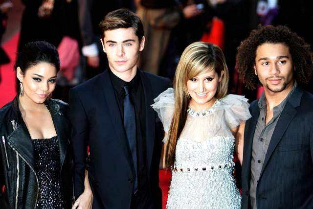 Vanessa Anne Hudgens, Zac Efron, Ashley Tisdale i Corbin Bleu/premiera High School Musical 3 - Londyn