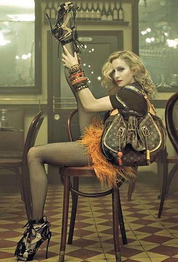 Madonna dla Louis Vuitton fot. www.trashbagaesthetics.com