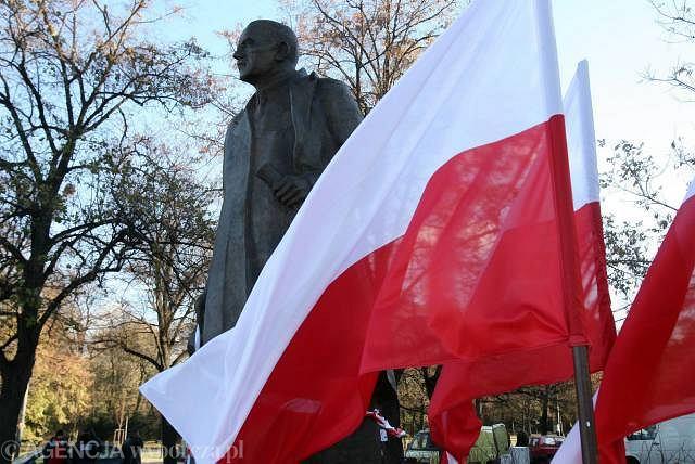 10.11.2006. Odsłonięcie pomnika Romana Dmowskiego w Warszawie