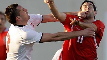 Polska - Walia 1:0. Po meczu Beenhakker i Roger mocno się wyściskali