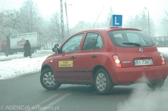 Nauka jazdy - pojazd egzaminacyjny