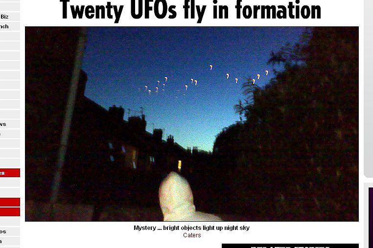 UFO nad Wyspami fot. thesun.co.uk