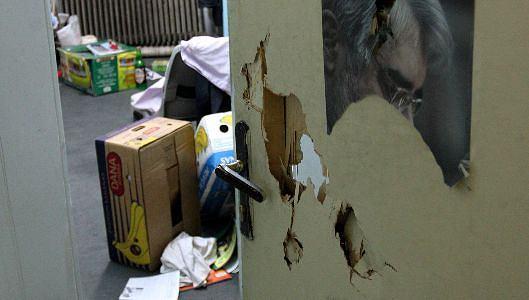 Zdemolowany przez siły bezpieczeństwa akademik w Teheranie