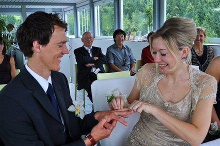 Andreas Kuettel z żoną