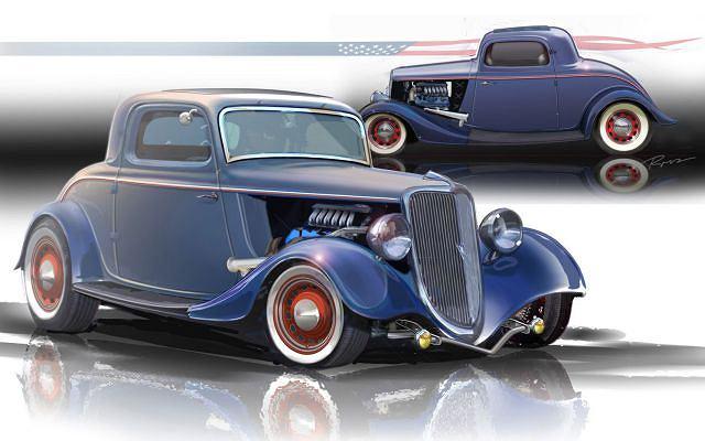 Ford V8 z 1934 roku wg projektu Detroit Street Rods