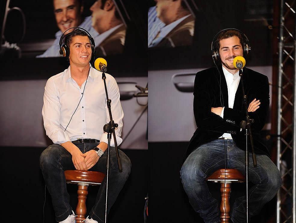 Christiano Ronaldo (L) i Iker Casillas