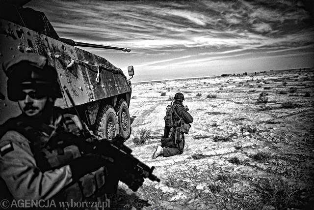 Afganistan, polska baza Giro w prowincji Ghazni, 2008 r.