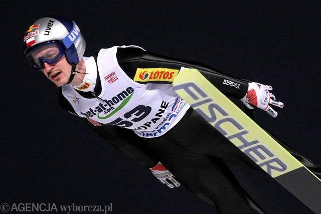 Adam Małysz podczas Pucharu Świata w skokach narciarskich w Zakopanem