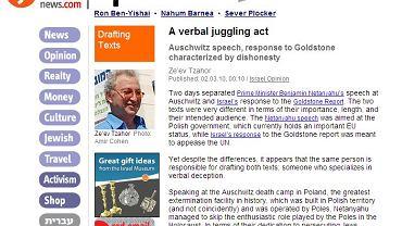 Zeev Tzahor w dziale opinie izraelskiego portalu twierdzi, że Polacy bywali gorsi od Niemców
